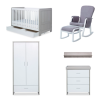 Pembrey 8 piece nursery bundle (Ash grey white)