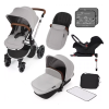 Stomp V3 Silver Travel system with ISOFIX (silver)