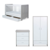 Pembrey 3 piece nursery set and under drawer (Ash grey white)