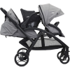 evalite duo twin stroller (grey flannel)