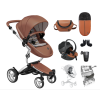 Xari 4G Complete Travel System - Camel on Aluminium