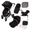 Special Edition Stomp V4 ISOFIX Travel System (Midnight chrome)