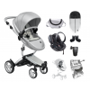 Xari 4G Complete Travel System - Argento on Aluminium