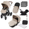 Stomp V3 Silver Travel system with ISOFIX (Sand)
