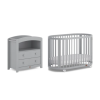 Boori Oasis 2 Piece Room Set (Cot & Chest Changer) in Pebble