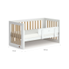 Turin Cot Bed - White & Almond