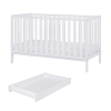 Malmo Cot Bed inc Changer And Mattress (White)