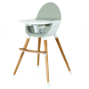 Koo-Di Duo Wooden Highchair (Grey/Beech)