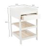 Lukas 2 Piece Set - Cot Bed Changing Table with Drawer - White/Natural