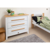 Boori Linear 3 Drawer Chest (Smart Assembly) in White and Almond