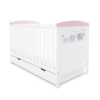 Coleby Style Cot Bed & Under Drawer Inc Foam Mattress (Elephant Love Pink)