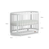 Oasis Oval Cot - White