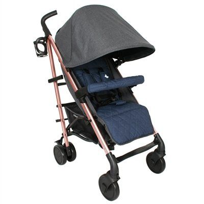Katie Piper MB51 Rose Gold, Grey and Navy Stroller