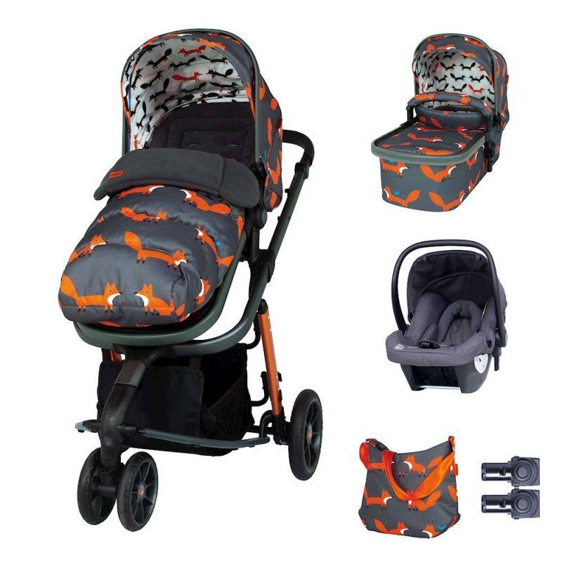 Giggle 3 Marvellous Bundle (5pcs) - Charcoal Mister Fox with Graphite Hold Car Seat