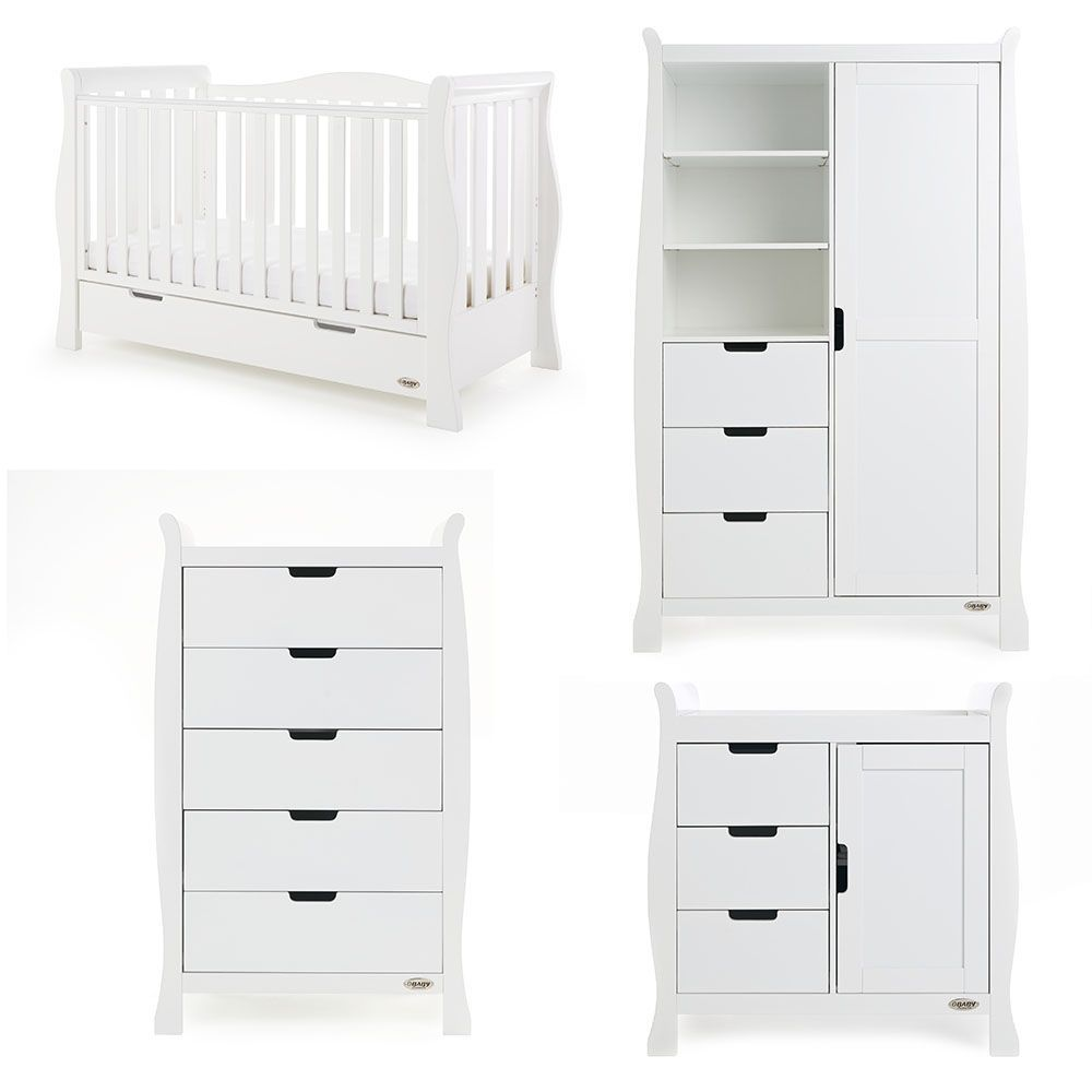 Stamford Luxe 4 Piece Room Set - White