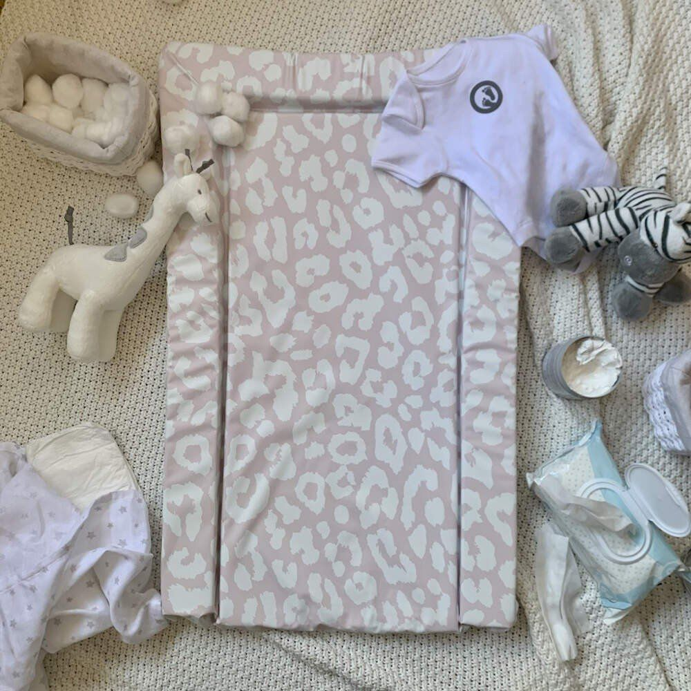 Obaby Changing Mat - Leopard Print Pink