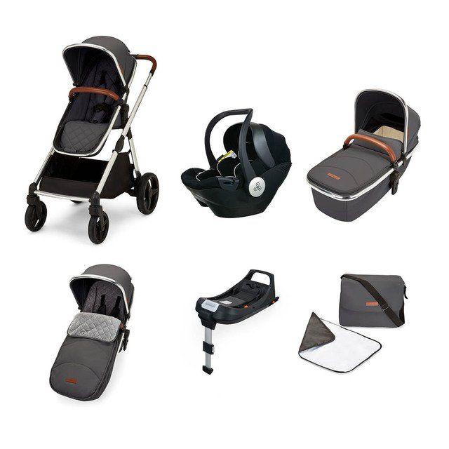 Eclipse Travel System with Mercury i-size Car Seat and Isofix Base (graphite grey)