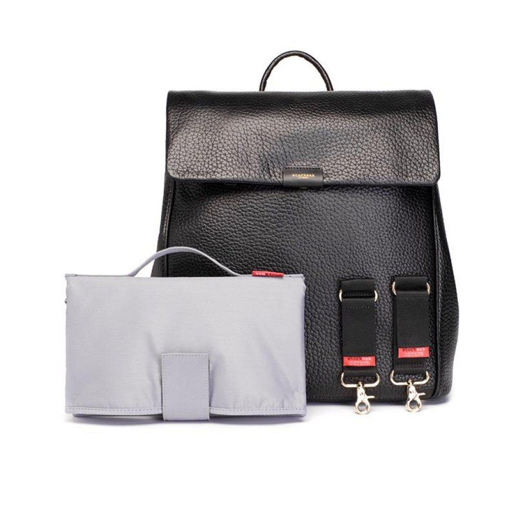 BABY CHANGING BAG ST JAMES (LEATHER BLACK)