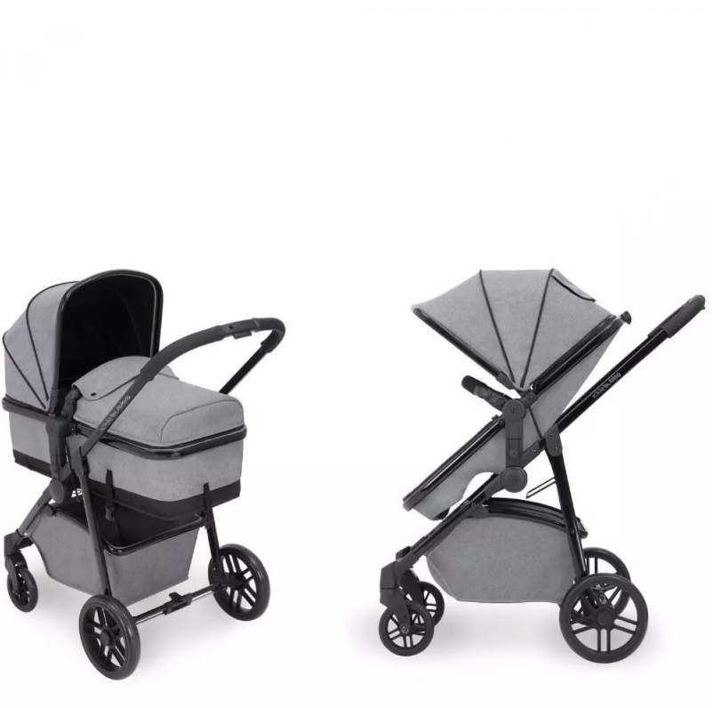 Moon 2-in-1 Carrycot & Pushchair (Silver & Black)