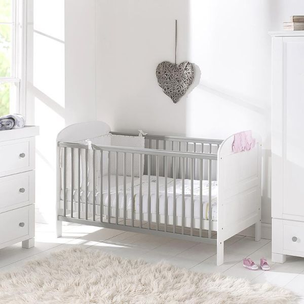 Angelina cot bed (white/grey)