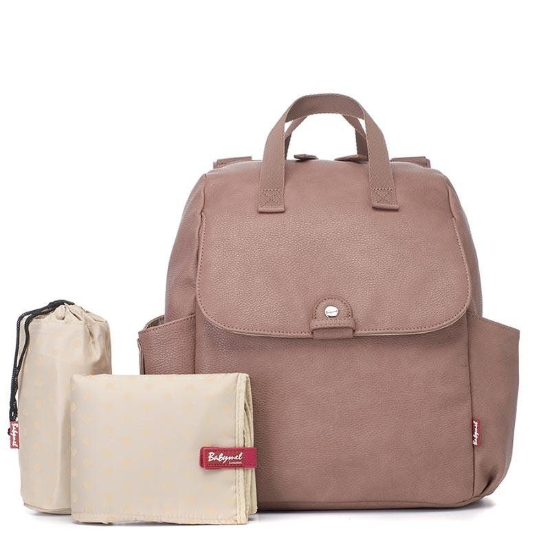 Baby changing Convertible Backpack robyn Vegan leather (dusty pink)