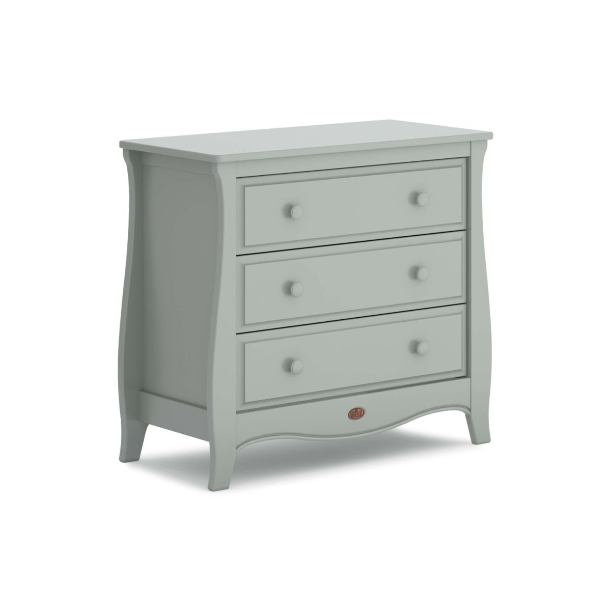 sleigh 3 Drawer Chest inc Smart Assembly (Pebble grey)