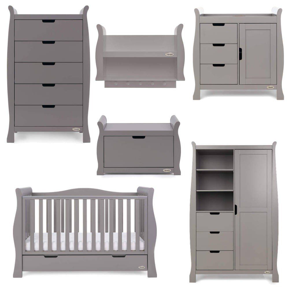 Stamford Luxe 7 Piece Room Set - Taupe Grey