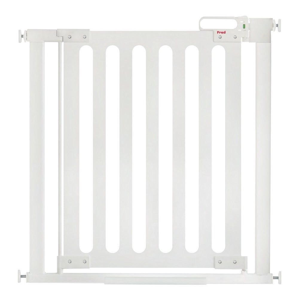 Pressure Fit Wooden Stairgate (White Wood/Pure White)
