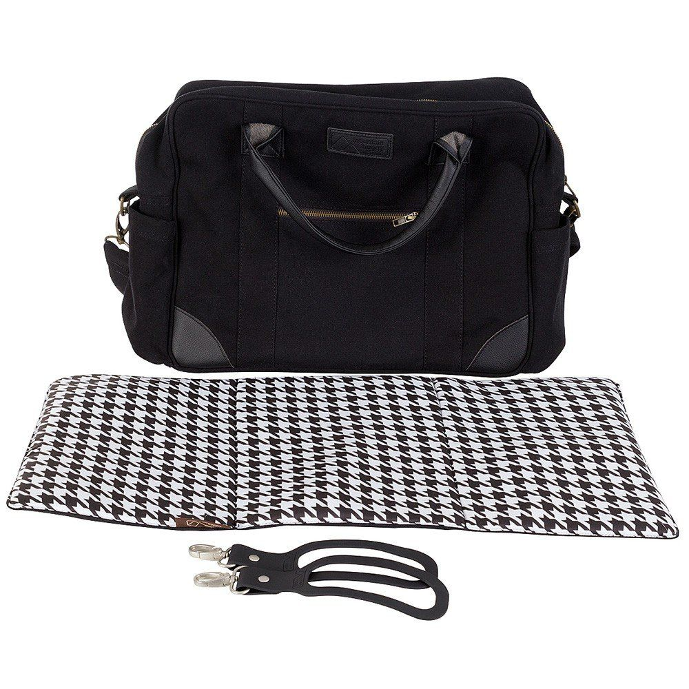 Luxury Satchel with Clips and Changing Mat (Pepita)