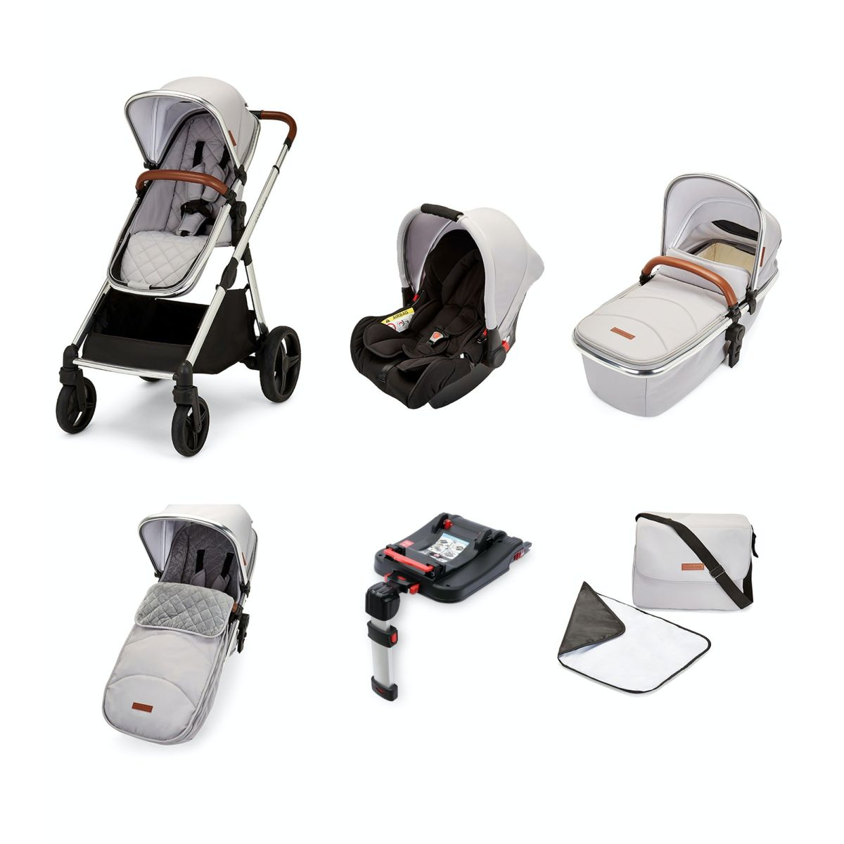 Eclipse Travel System with Galaxy Car Seat and Isofix Base (silver grey)