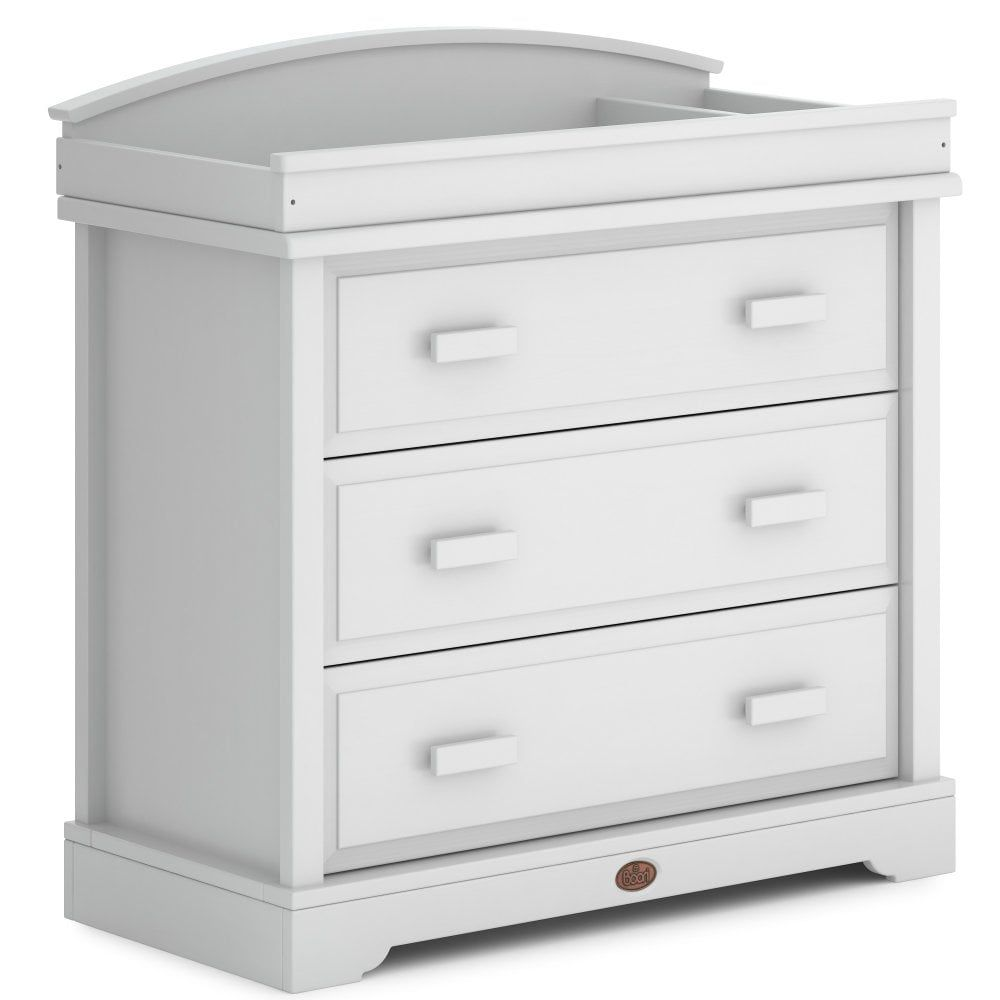 Boori 3 Drawer Dresser with Arched Changing Station (Barley White)