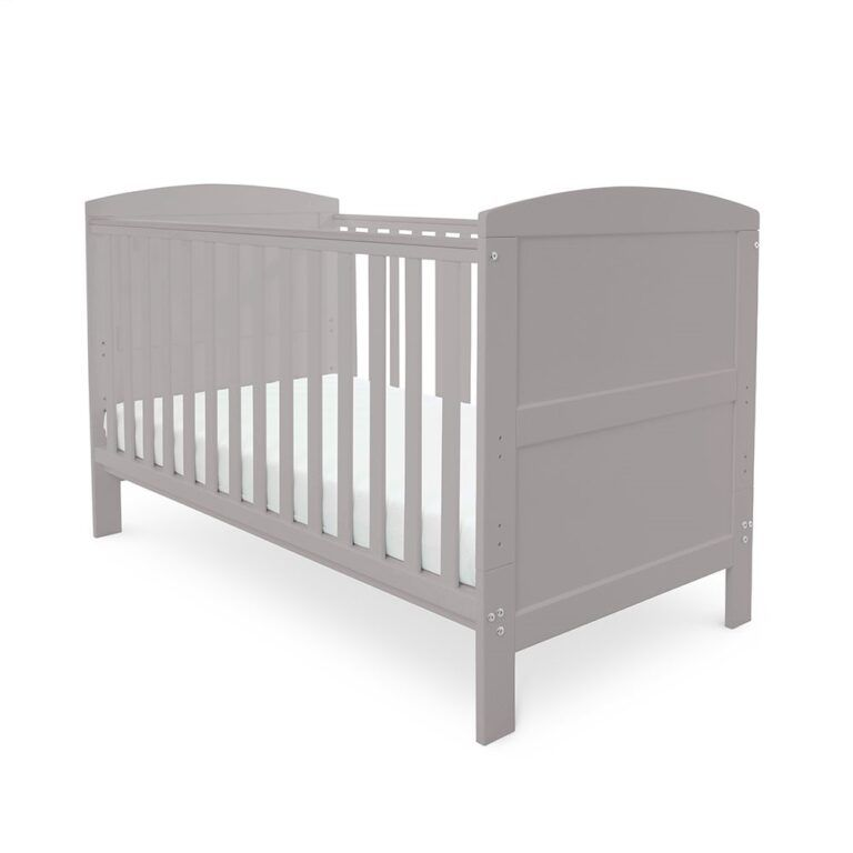 Coleby Classic Cot Bed & Sprung Mattress (Grey)