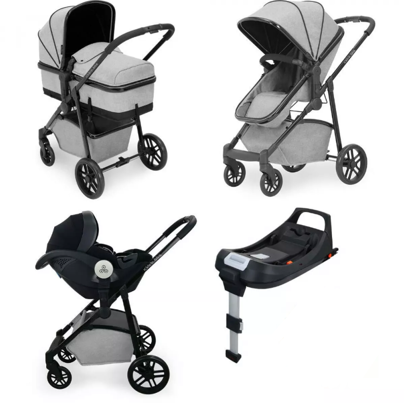 Moon Travel System iSize (Silver Grey)