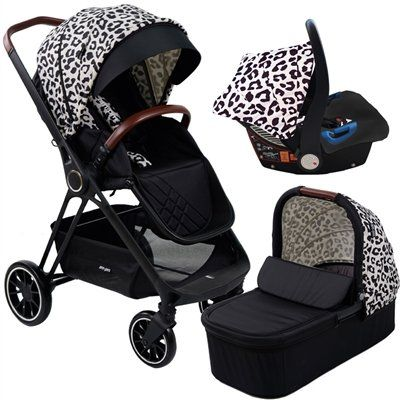 """AM to PM by Christina Milian -MB250 Leopard """"Victoria"""" Travel System"""