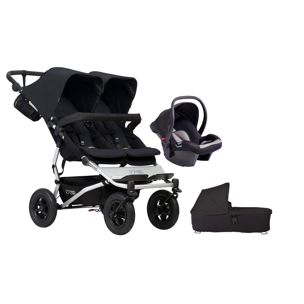Mountain Buggy Duet V3 Travel System & Carrycot (Black)