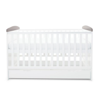 Coleby Style Cot Bed & Under Drawer (Elephant Love Grey)