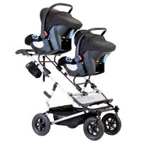 Mountain Buggy Duet V3 Double Travel System & 2 Carrycots (Black)