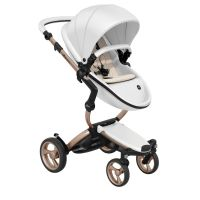 Xari 4G Complete Travel System - Snow White on Rose Gold