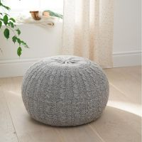 Knitted Pouffe (Pebble)