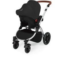 Stomp V3 Silver Travel system with ISOFIX (Black)
