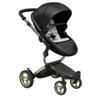 Xari 4G Complete Travel System - Black on Champagne