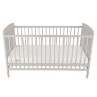 Juliet Cot Bed and Mother & Baby Rose Gold Sprung Mattress (Dove Grey)