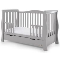 Stamford Luxe Cot Bed - Warm Grey