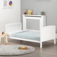 Juliet Cot Bed and Mother & Baby First Gold Foam Mattress (White)