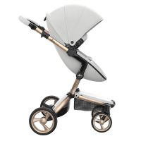 Xari 3-in-1 Pushchair (Snow White/Champagne Chassis)