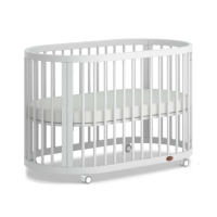 Boori Oasis 2 Piece Room Set (Cot & Chest Changer) in White