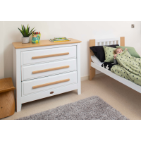 Boori Turin 2 Piece Room Set (Cot & Chest) in White and Almond