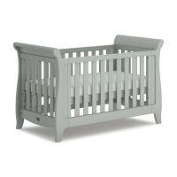 Sleigh Expandable Cot Bed (Includes Expandable Kit) (Pebble)