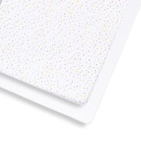 2 Pack Cot & Cot Bed Fitted Sheet – Multi Spot