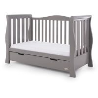 Stamford Luxe Cot Bed - Taupe Grey